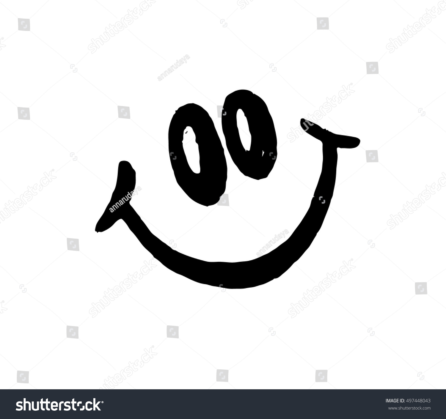 Line Drawing Face Vector : Smile vector on white background face stock