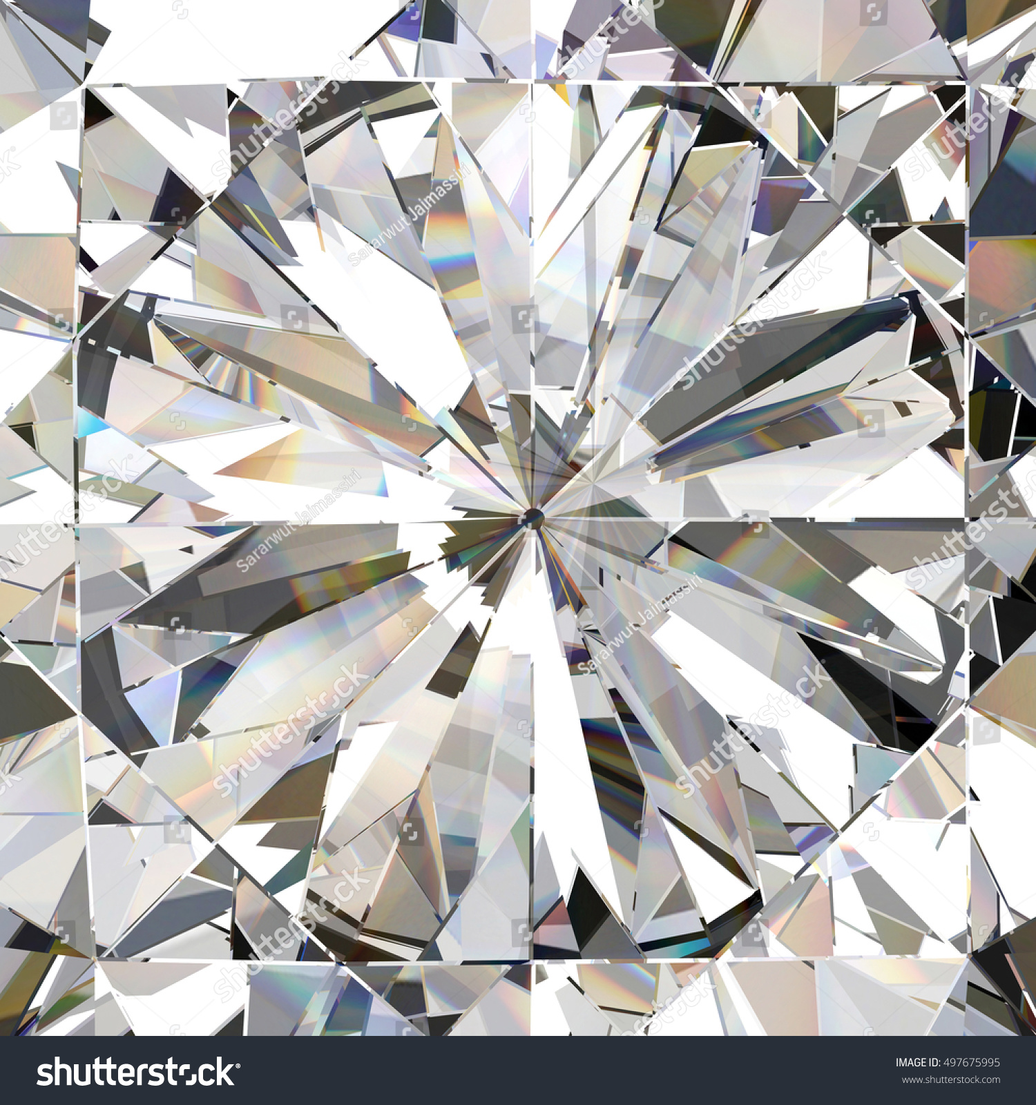 Realistic Diamond Caustic Close Texture 3d Stock Illustration 497675995 - Shutterstock
