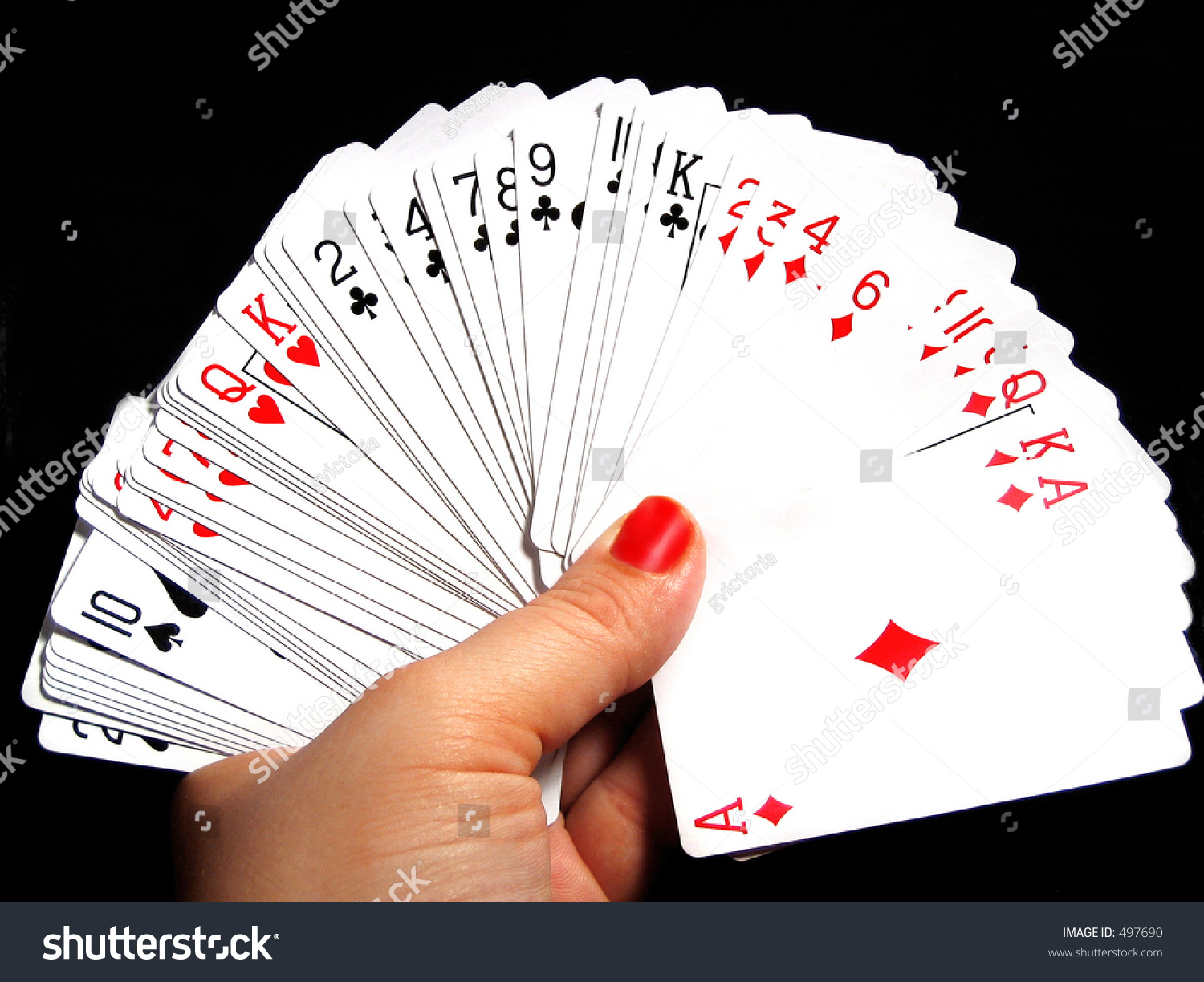 All Cards On One Card - Holding all the cards in one hand