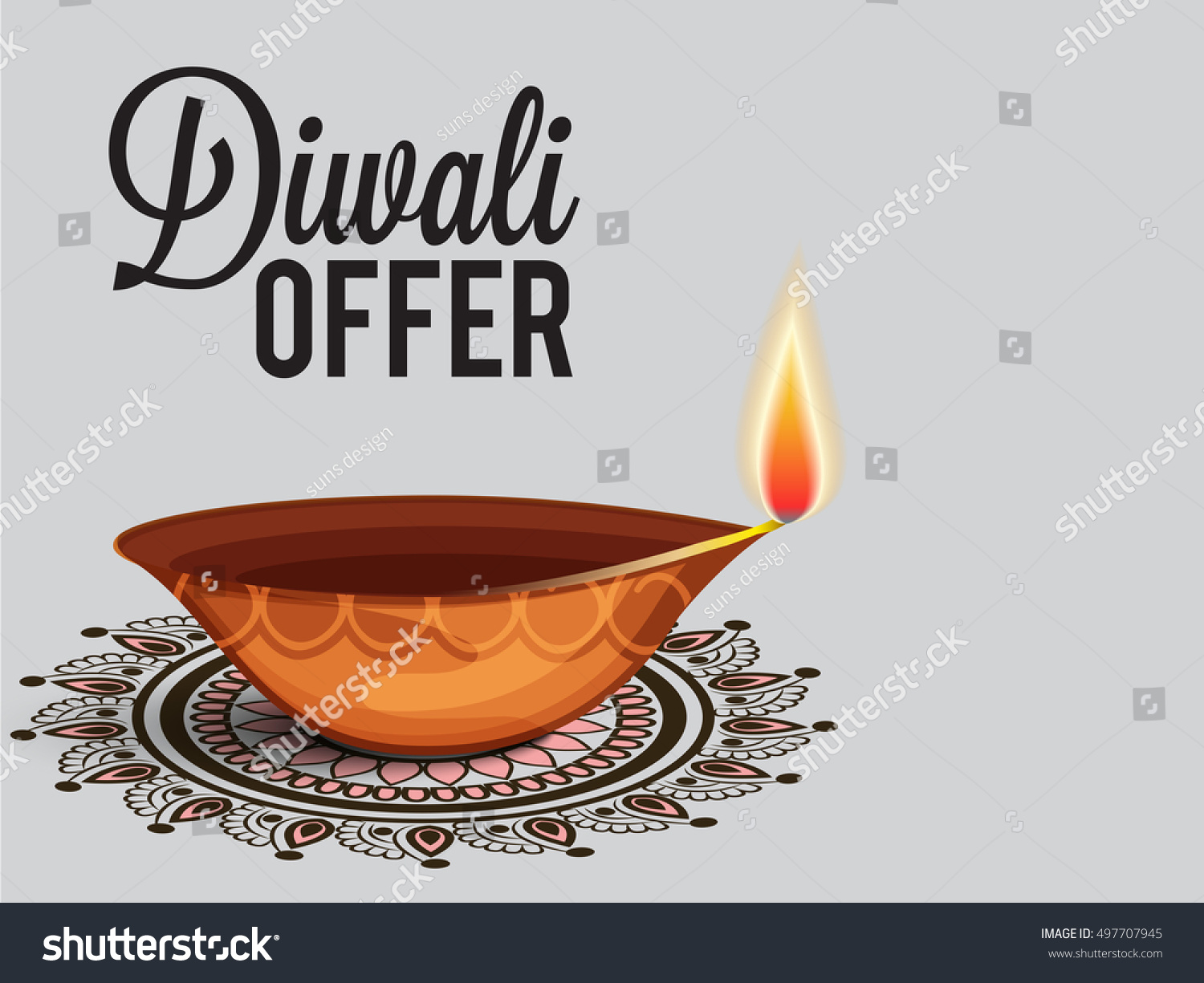 Vector illustration of a Sale banner or sale poster for festival of diwali celebration background