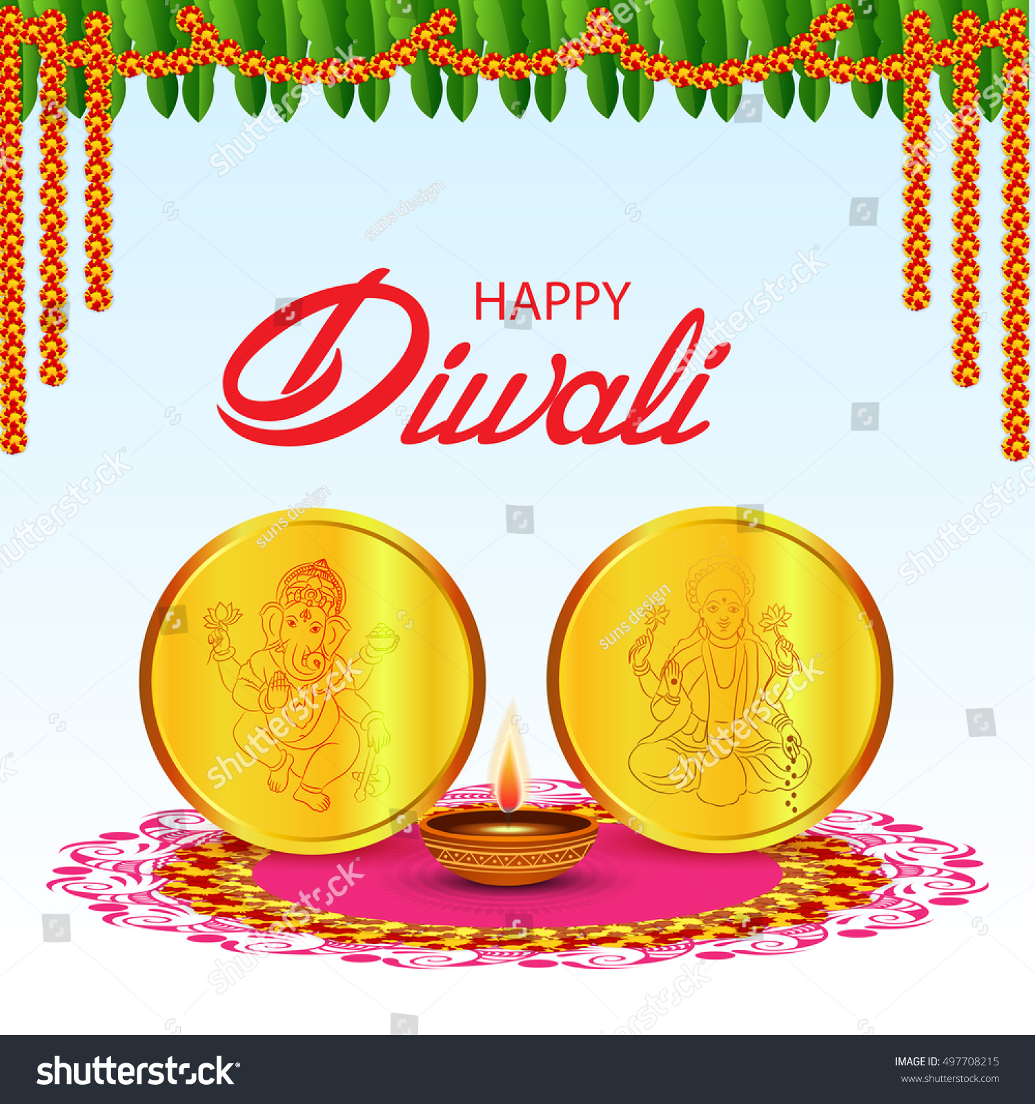 Vector illustration of a banner or poster for festival of diwali celebration background