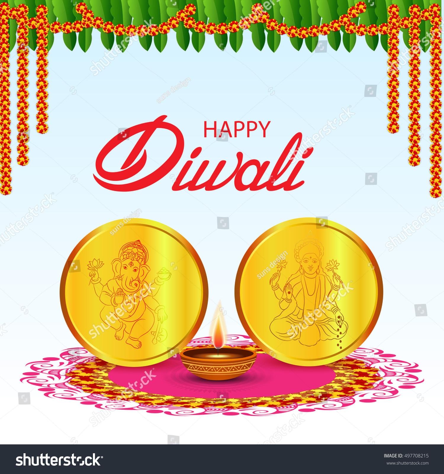 Vector illustration of a banner or poster for festival of diwali celebration background