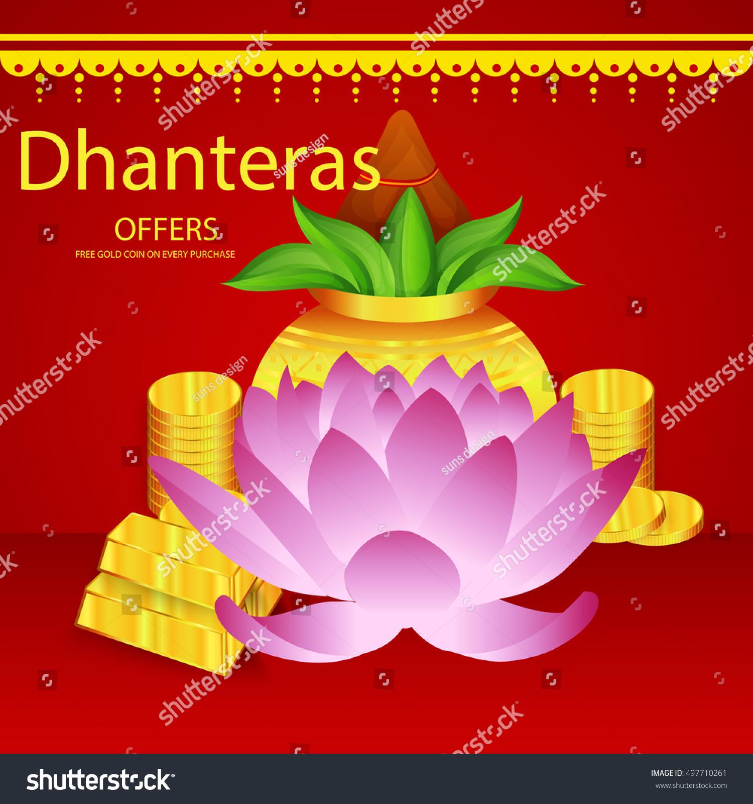 Vector illustration of a Sale banner or sale poster for festival of dhanteras diwali festival celebration