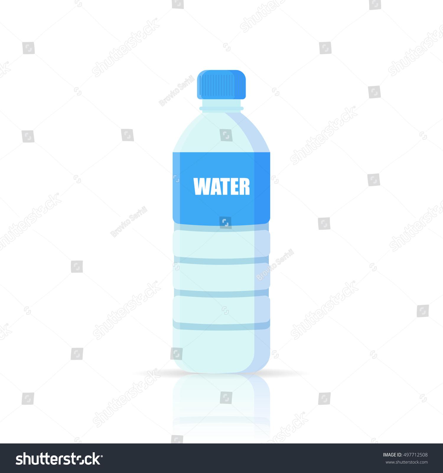 Water Bottle Vector: Water Bottle Vector Icon Stock Vector 497712508