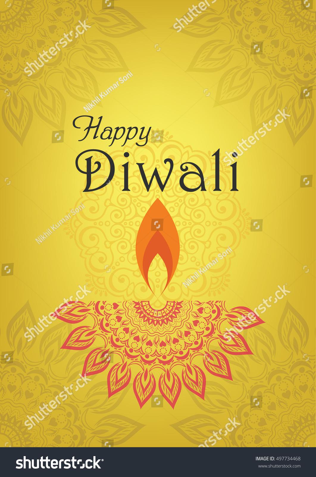 Diwali greeting design for Diwali festival celebration in India