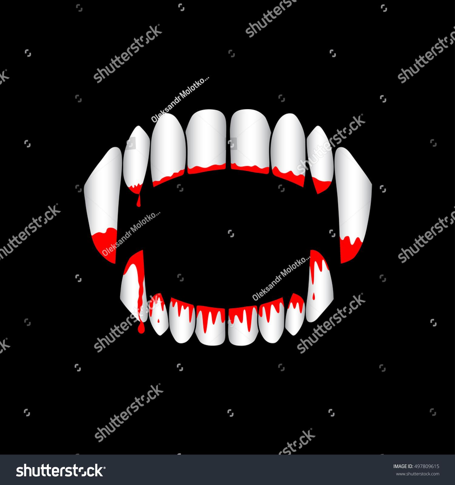Vector Vampire Monster Bloody Teeth On Stock Vector ...