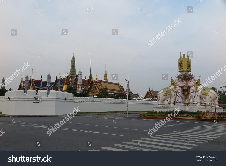 BANGKOK THAILAND OCTOBER 12 2016 Grand Palace and Royal Temple in Bangkok Thailand