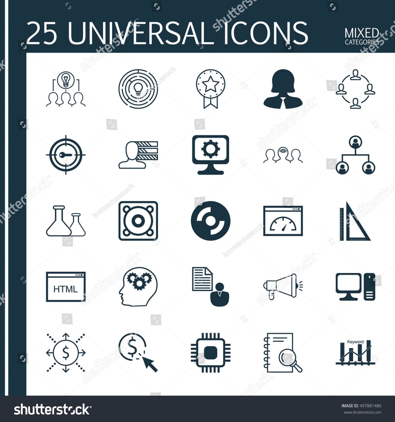 set of 25 universal icons on blank cd personal skills computer set of 25 universal icons on blank cd personal skills computer and more topics