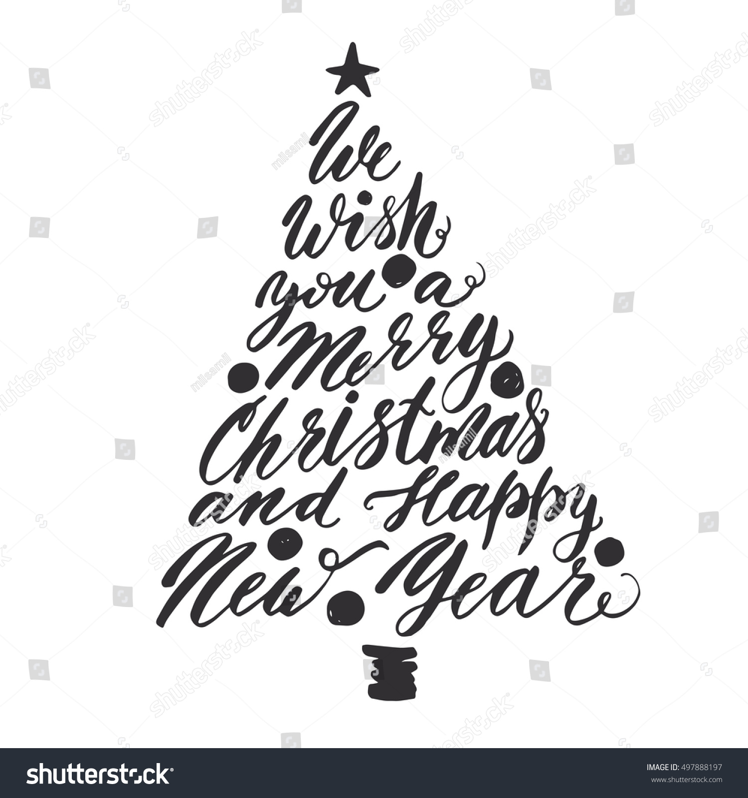 We Wish You Merry Christmas Happy Stock Vector (Royalty Free ...