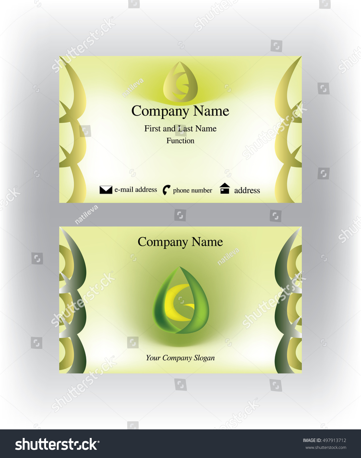 Business card g letter inside abstract stock vector 497913712 business card with g letter inside an abstract drop shape colourmoves