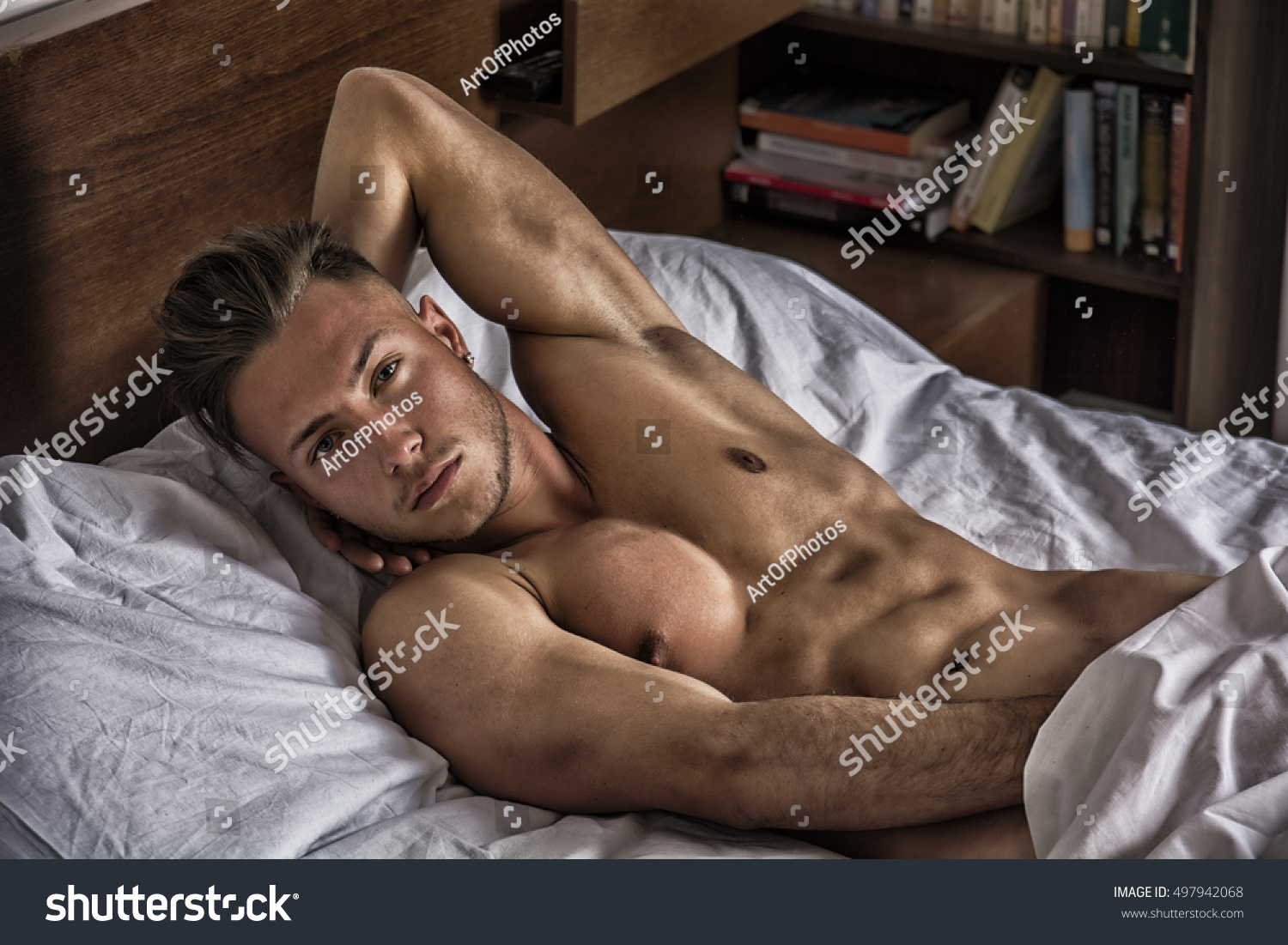 guy nude in bed