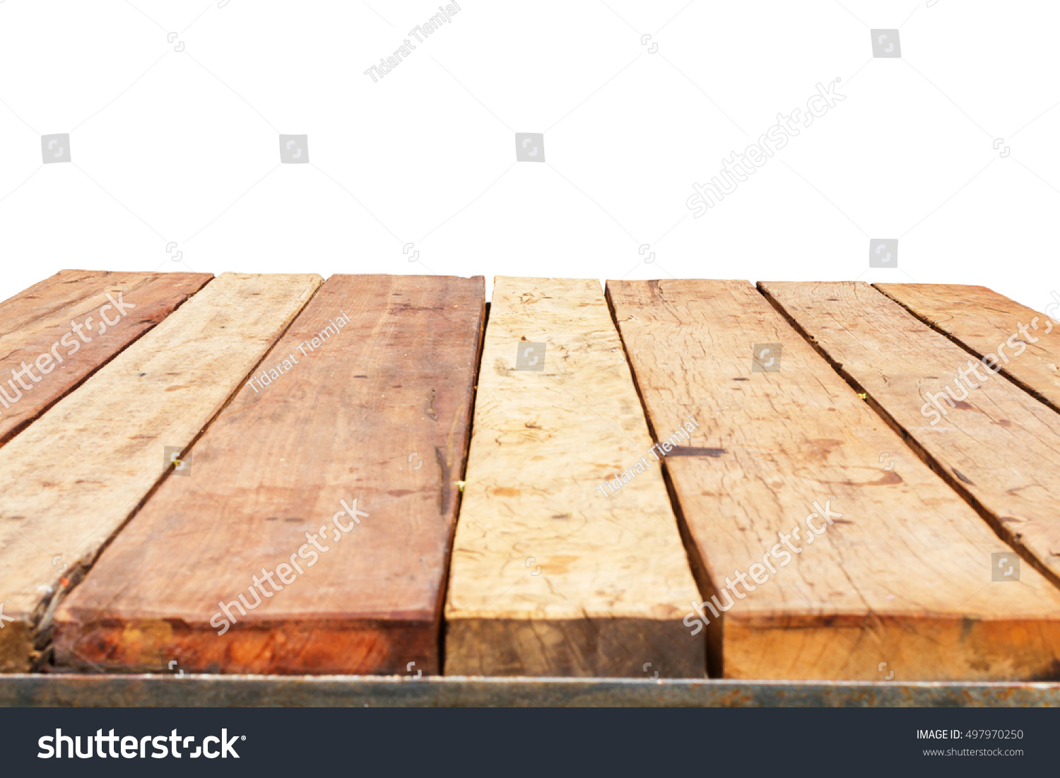 Horizontal photo of old retro planked wood table in for Html horizontal table