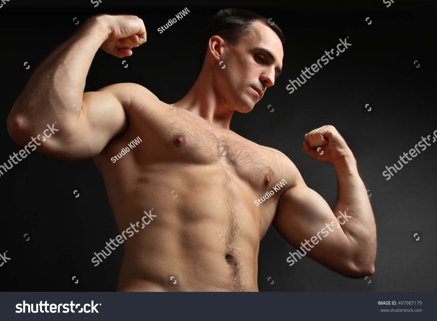 Muscular Male Torso Perfect Fit Shoulders Stock Photo (Royalty Free ...