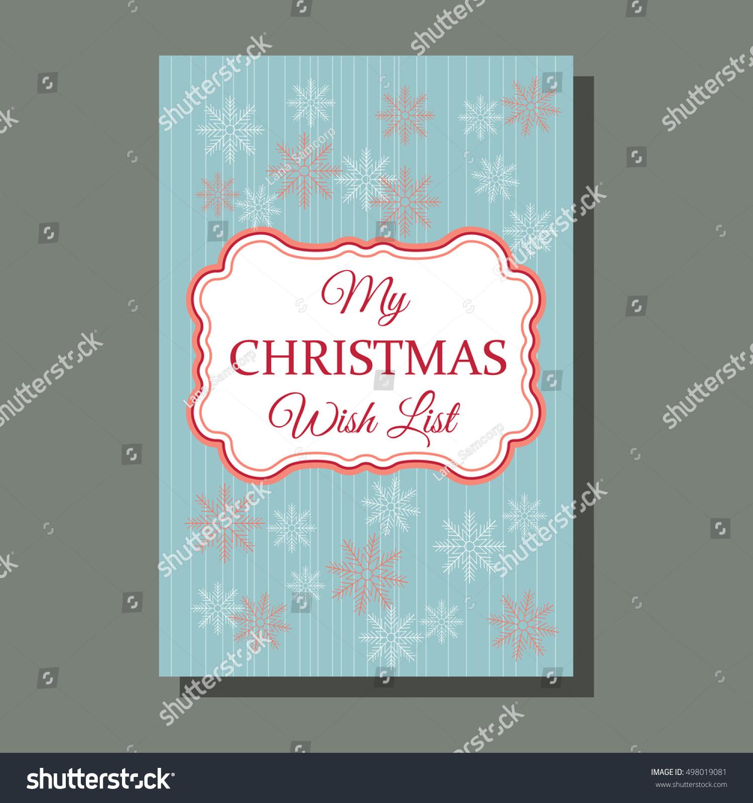 Christmas Card Holiday Season Greeting Concept Stock Vector Royalty