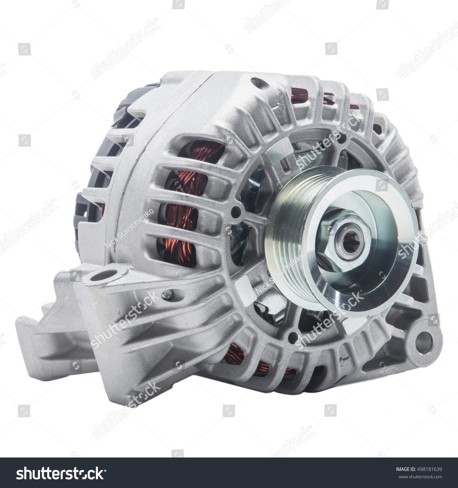 Power Generator Alternator Isolated On White Stock Photo (Royalty ...