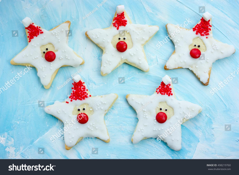 Christmas Cookies Santa Claus Creative Idea Stock Photo Edit Now