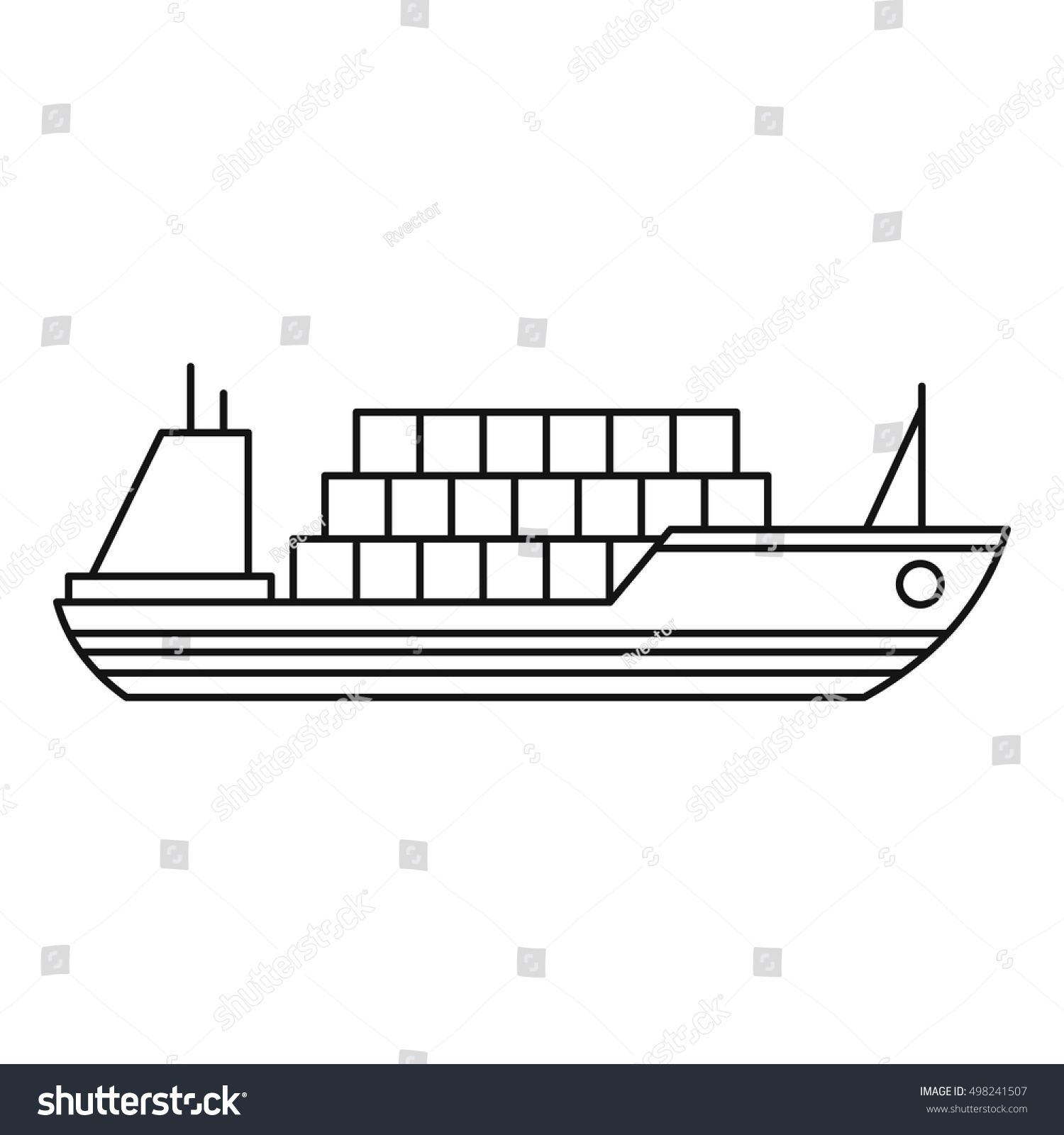 Ship Cargo Icon Outline Illustration Cargo Stock Vector ...