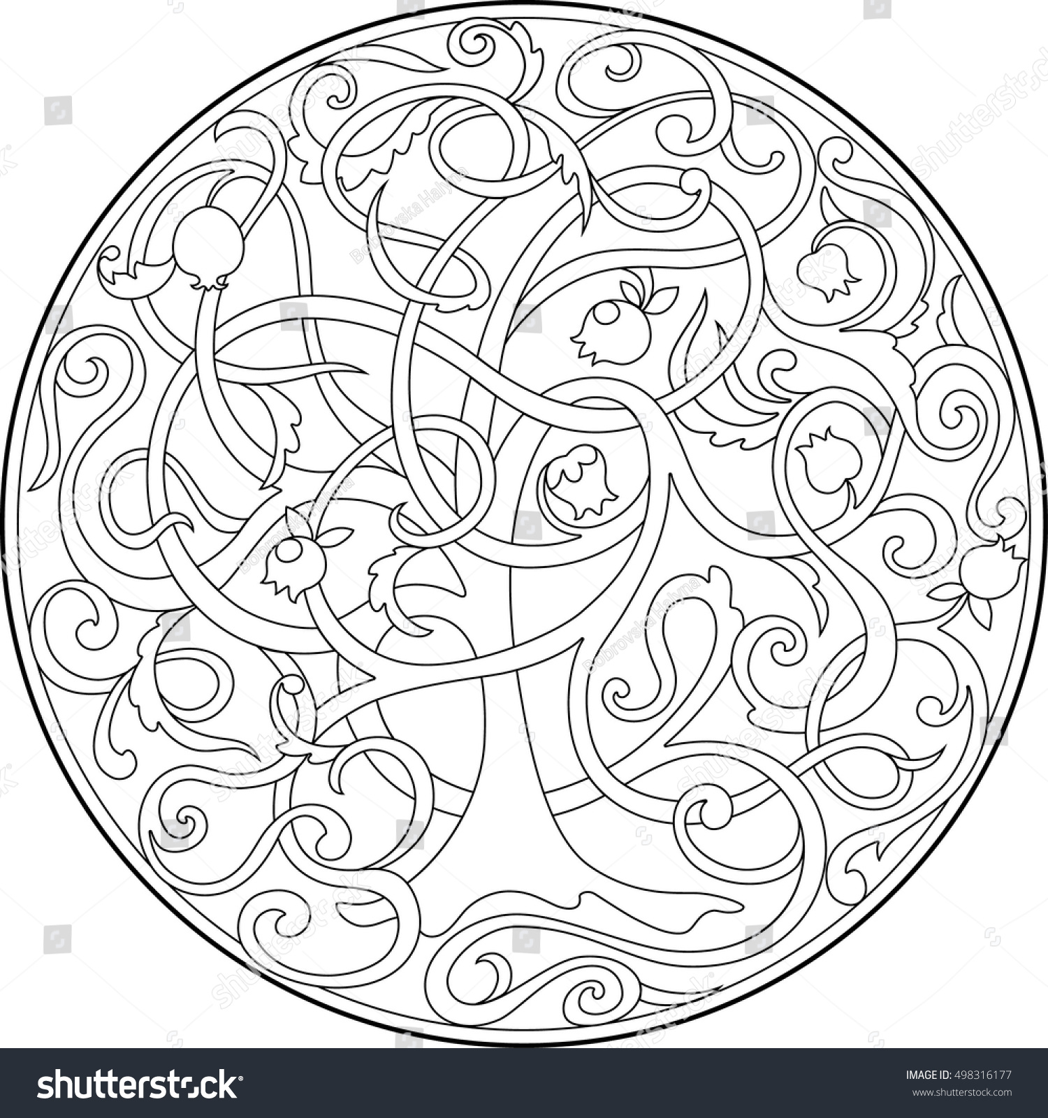 Graphic Image Tree Life Intertwined Branches Stock Vector ...