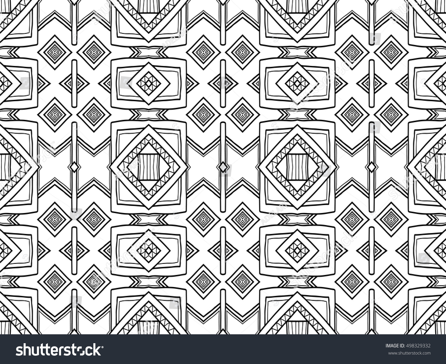 Stock Illustration Volleyball Tribal Abstract Vector: Abstract Background Black White Ethnic Texture เวกเตอร์