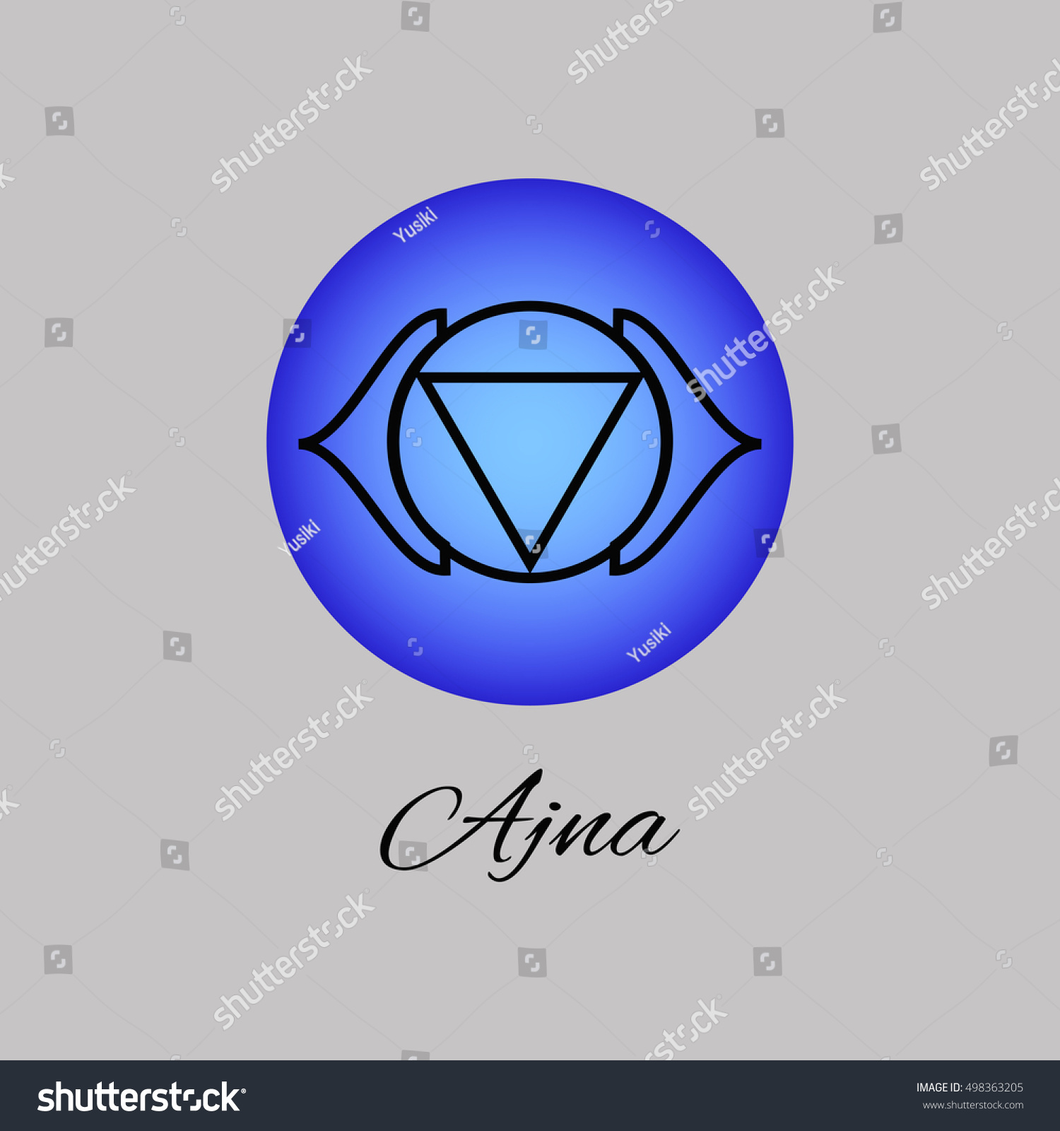 Ajna Third Eye Chakra Sixth Chakra Stock Vector Royalty Free