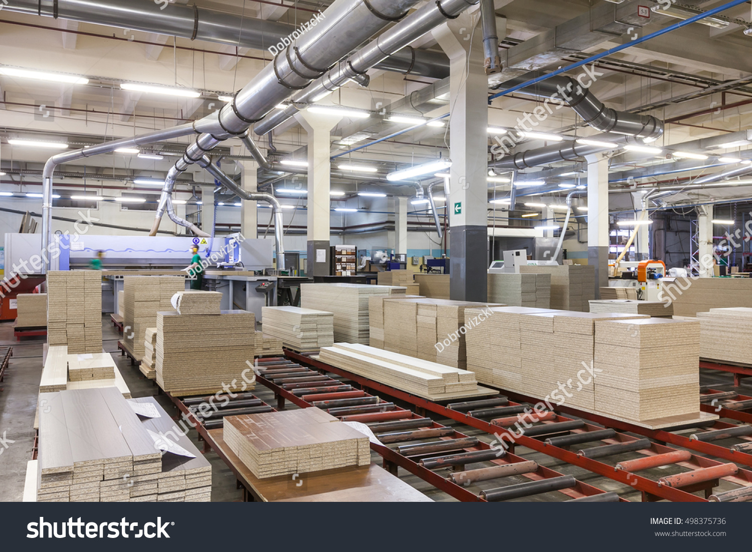 Production line on furniture factory