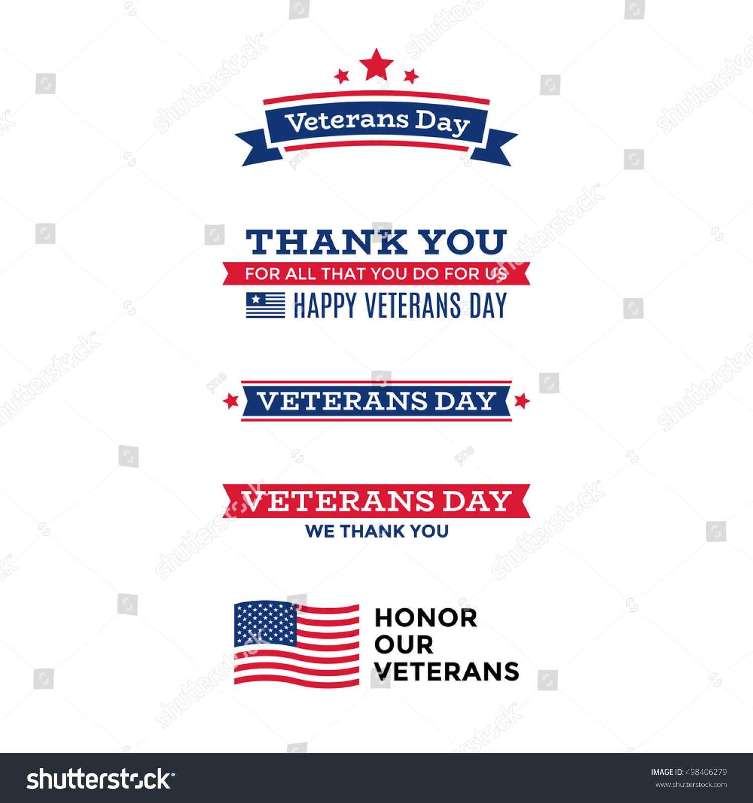 Collection various veterans day labels emblems stock vector collection of various veterans day labels emblems symbols icons and badges biocorpaavc