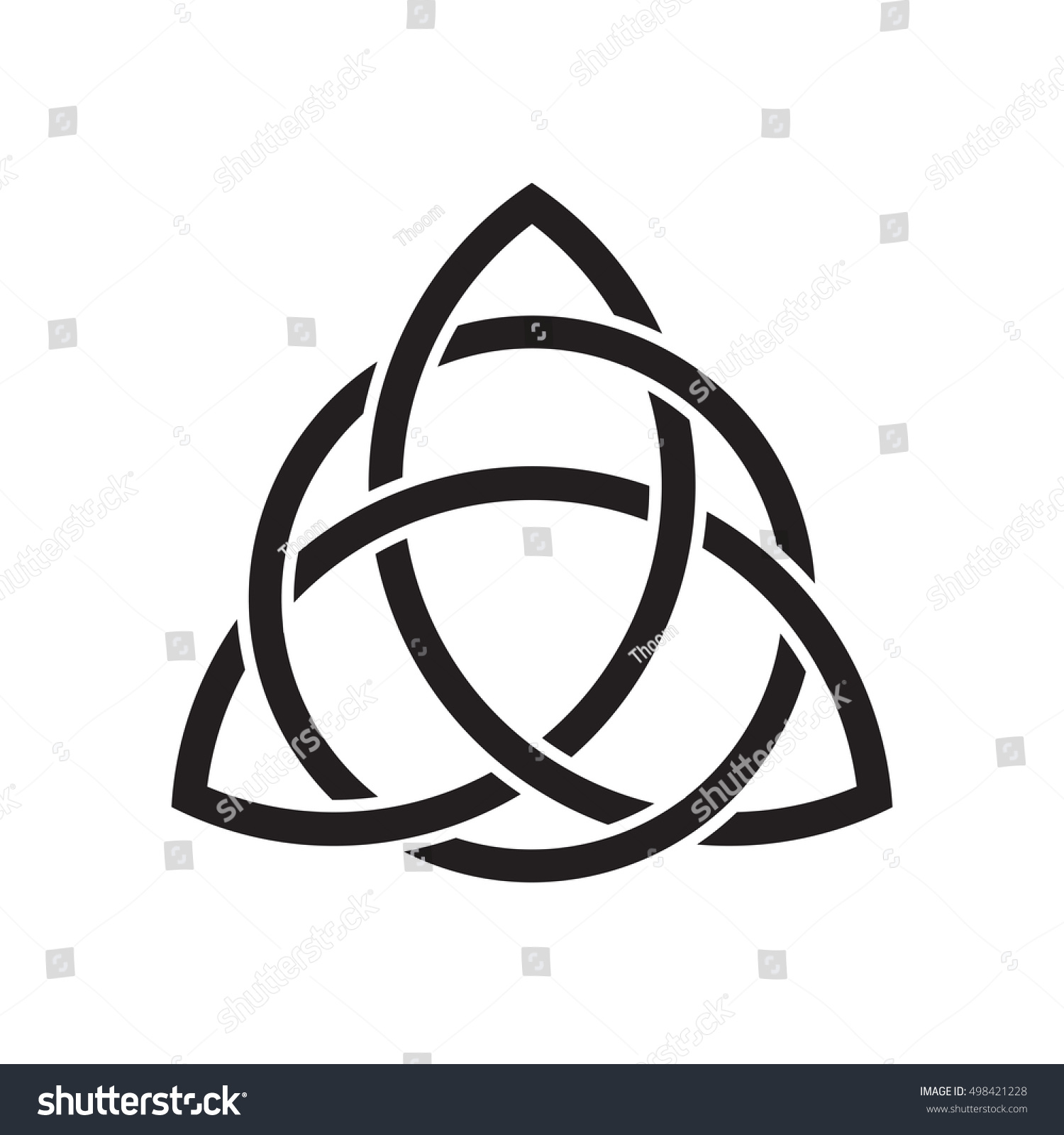 Trinity knot triquetra ancient celtic symbol stock vector ancient celtic symbol of eternity and trinity continuous line interweaving buycottarizona Image collections