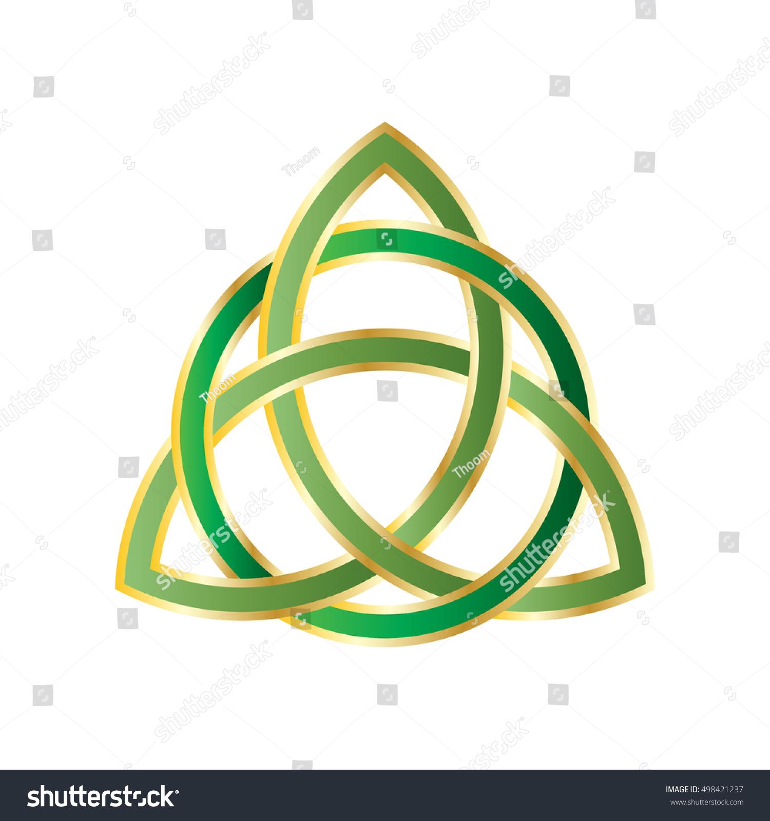 Trinity Knot Triquetra Ancient Celtic Symbol Stock Vector Royalty