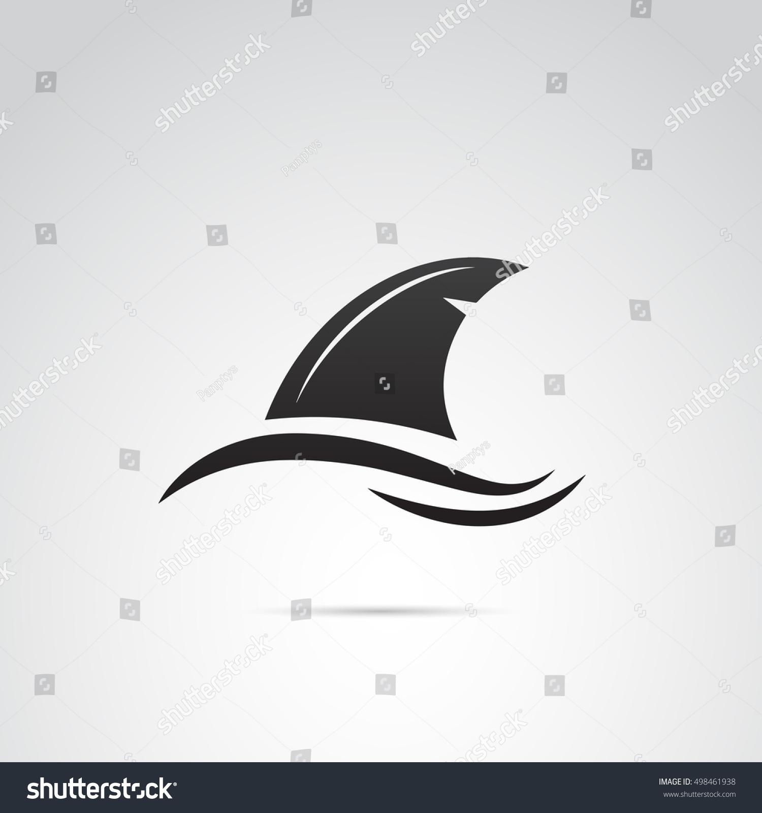 shark fin white background - photo #12