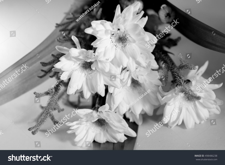 White Tropical Flower Black And White Ez Canvas