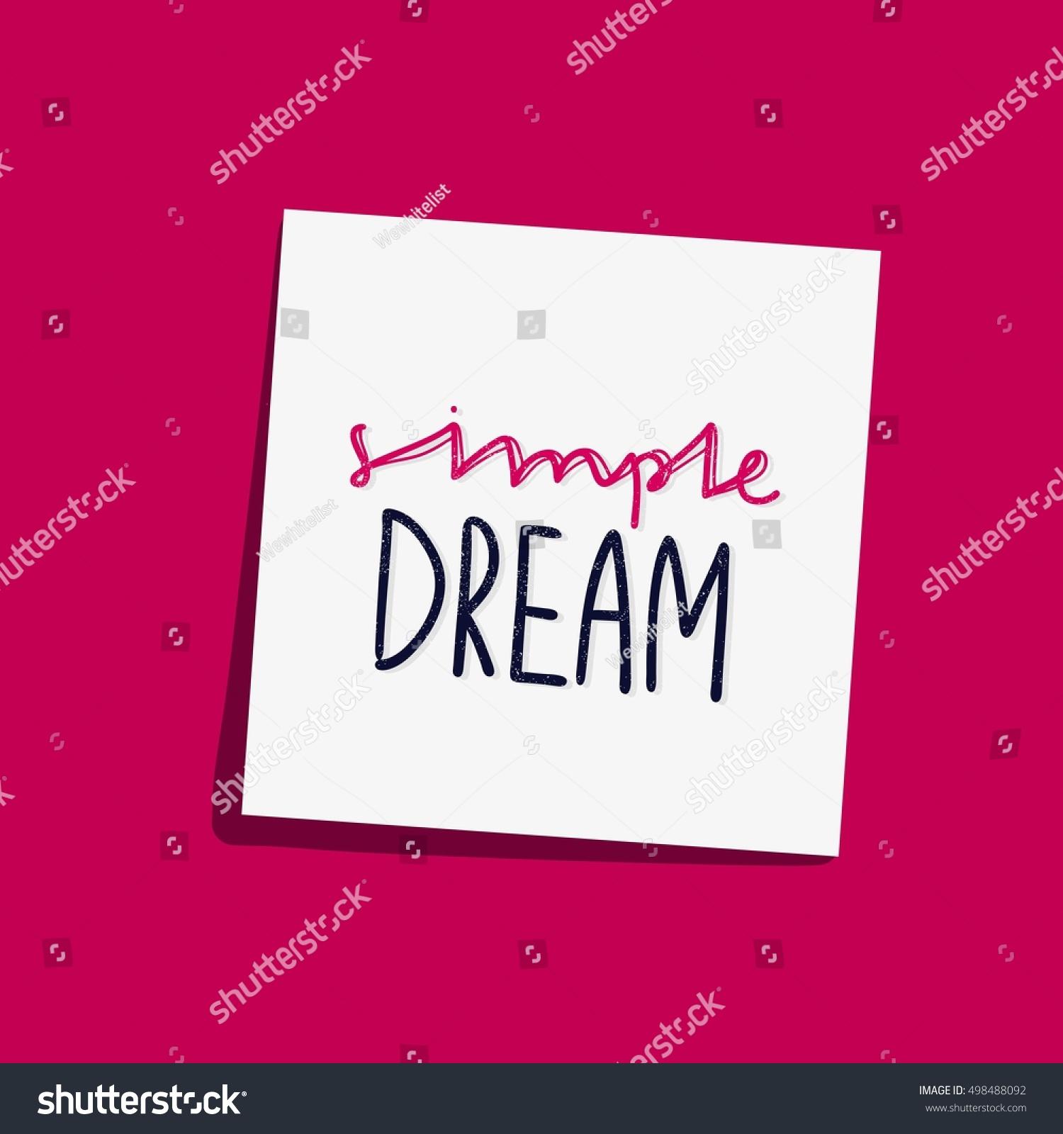 Simple Dream Bright Multicolored Letters Modern Stock Vector ...