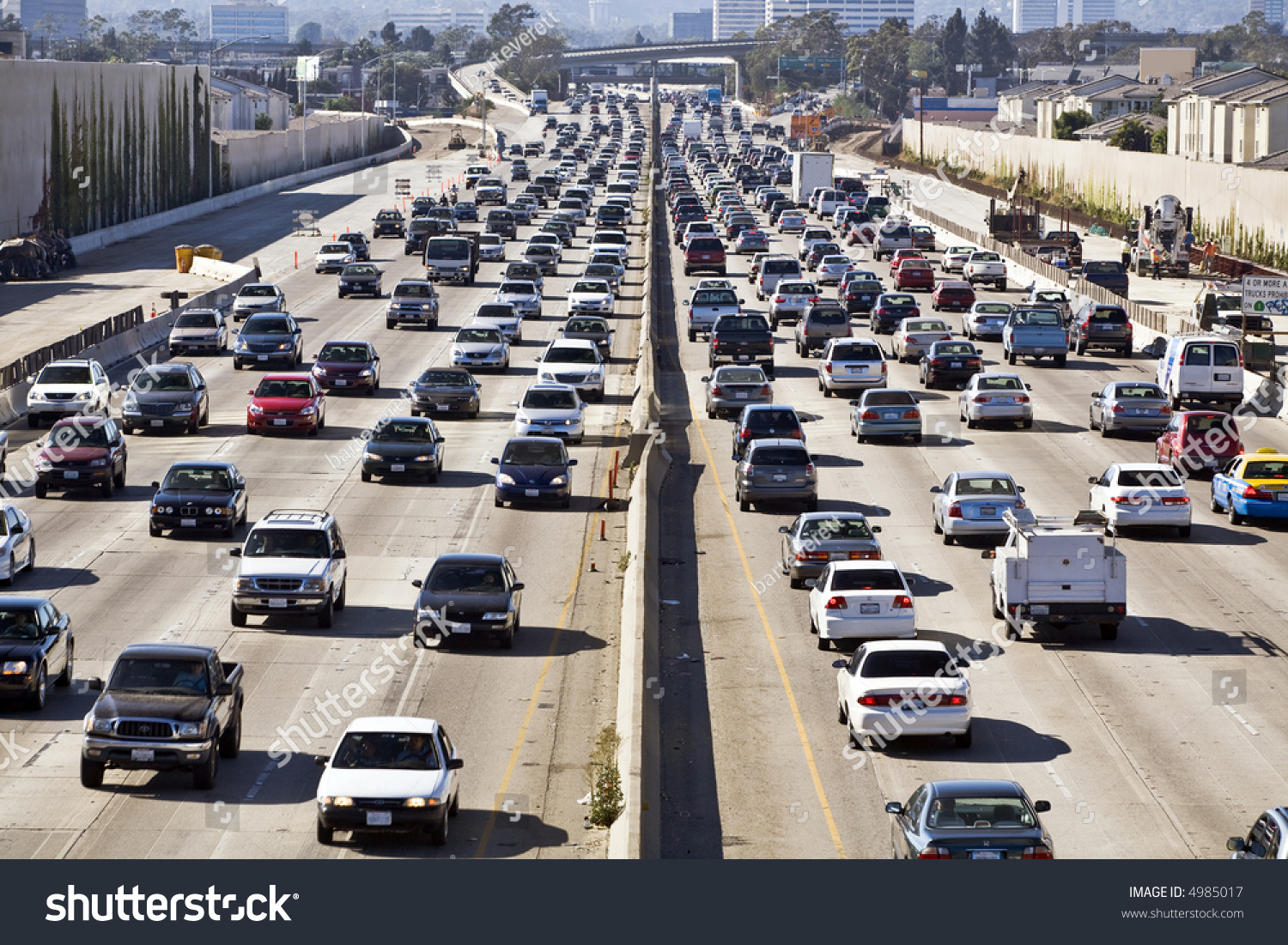 Cars Trucks Choke San Diego Freeway Stock Photo  Shutterstock - Los angeles freeway map traffic