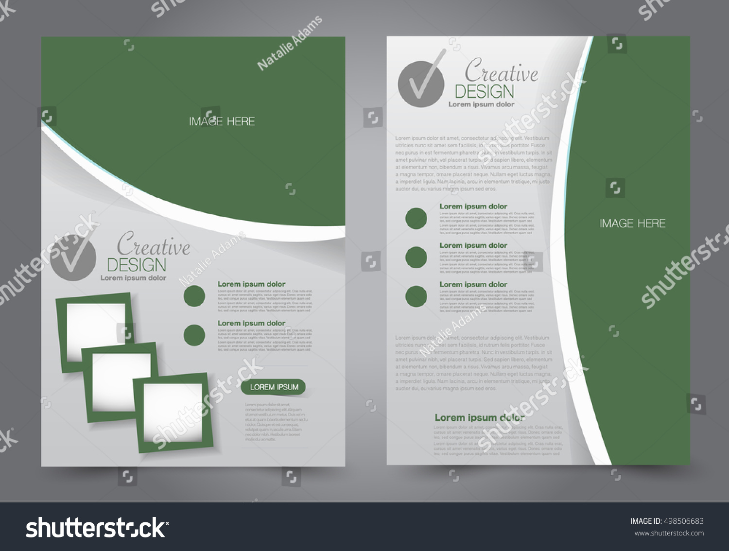 Brochure template business flyer annual report stock for Editable brochure templates