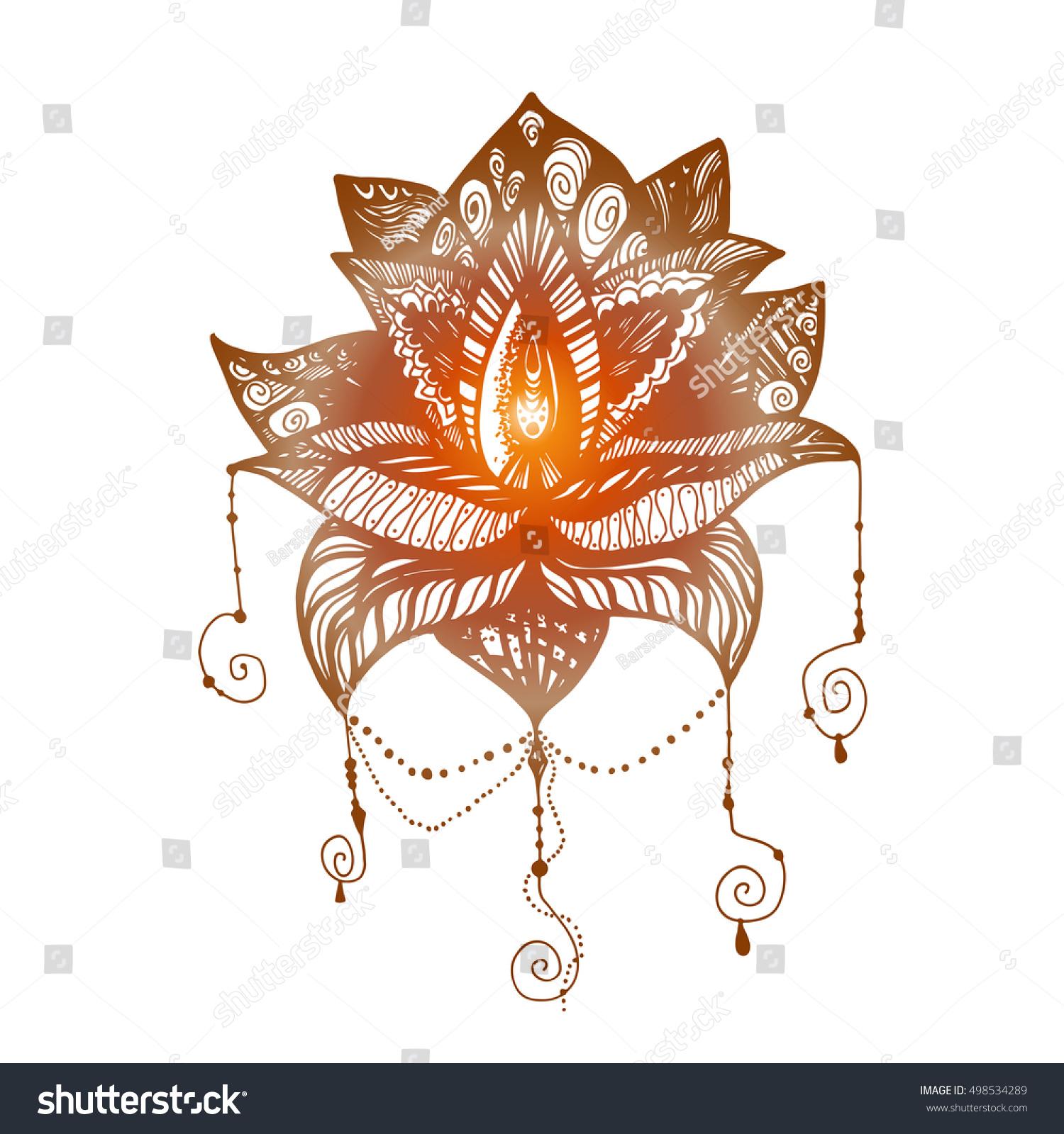 Flower lotus magic symbol print tattoo stock vector 498534289 flower lotus magic symbol for print tattoo coloring bookfabric t izmirmasajfo