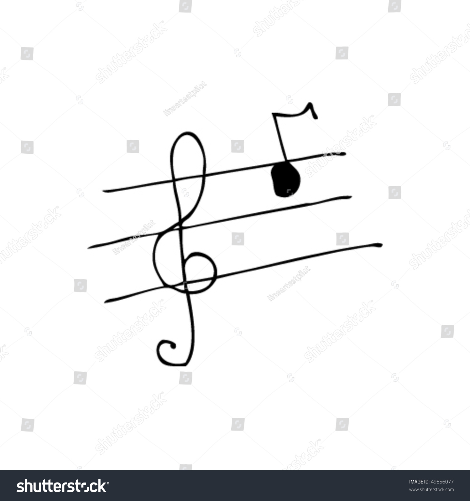 childs drawing music notes stock vector 49856077 shutterstock