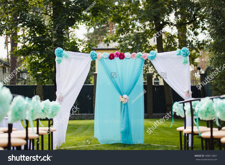 Wedding Set Garden Wedding Ceremony Wedding Stock Photo Edit Now