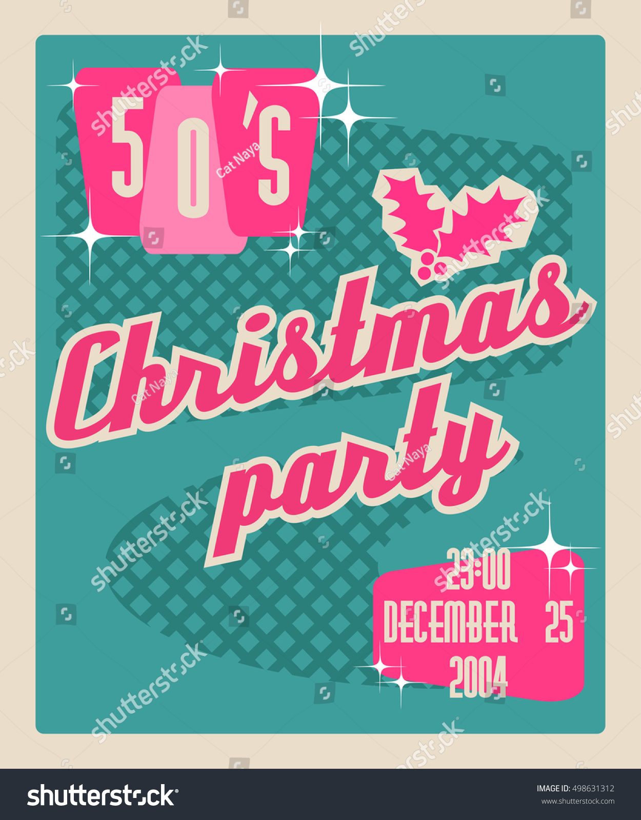 Template Invitation Christmas Party Abstract Style Stock Vector ...