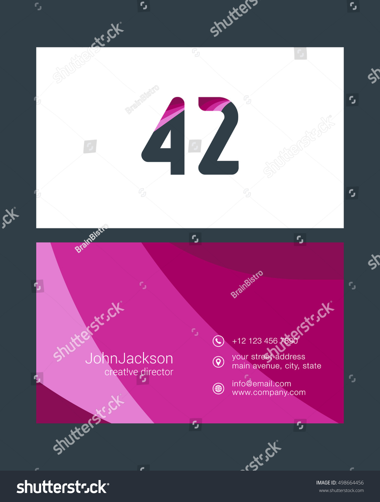 Number forty two 42 logo 42 stock vector 498664456 shutterstock number forty two 42 logo 42 icon with business card template magicingreecefo Image collections
