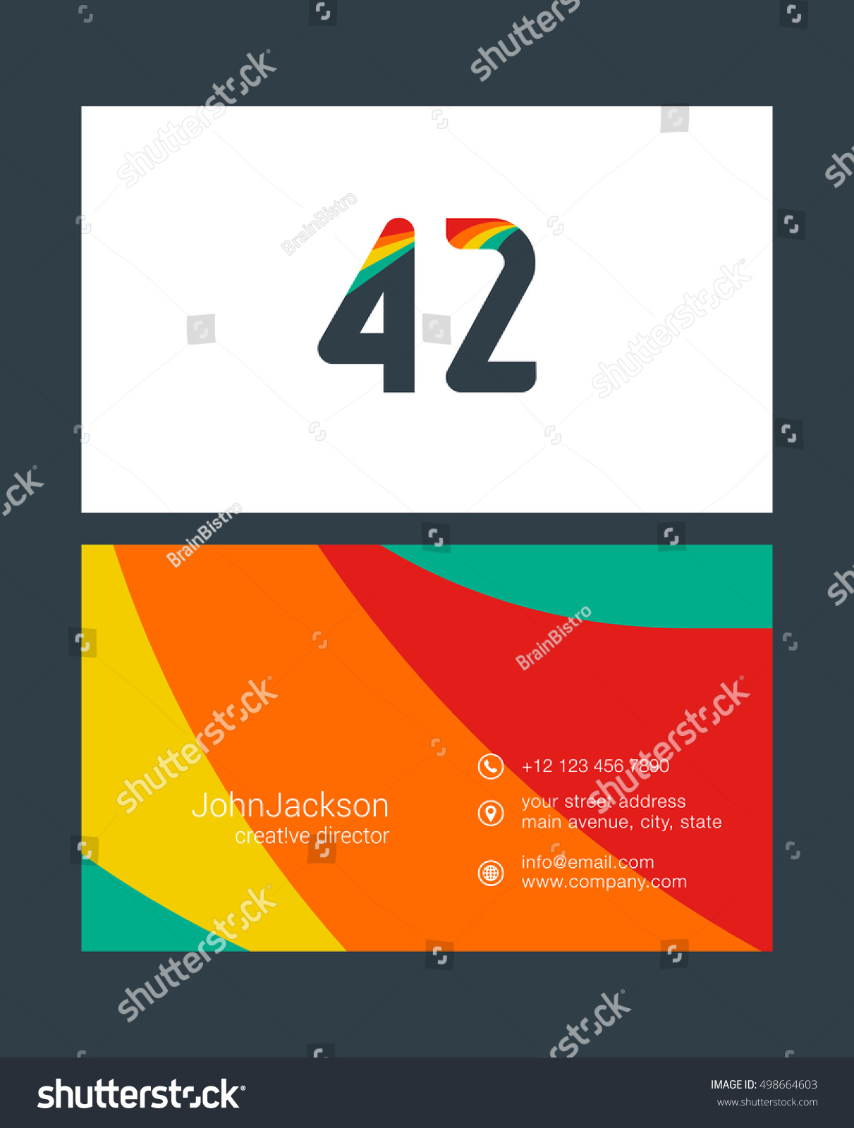 Number forty two 42 logo 42 stock vector 498664603 shutterstock number forty two 42 logo 42 icon with business card template magicingreecefo Image collections