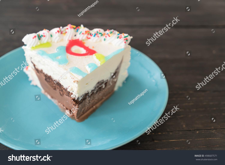 Happy Birthday Icecream Cake On Table Stock Photo Edit Now