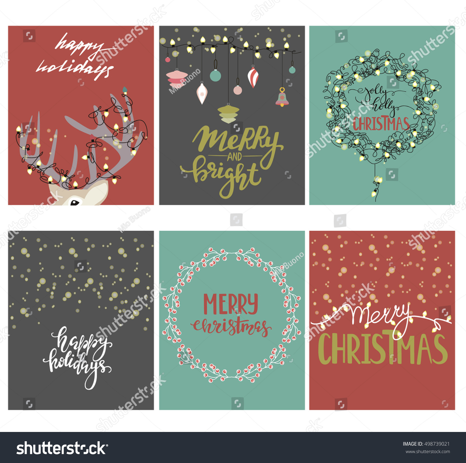 set christmas cards christmas posters set stock vector royalty free