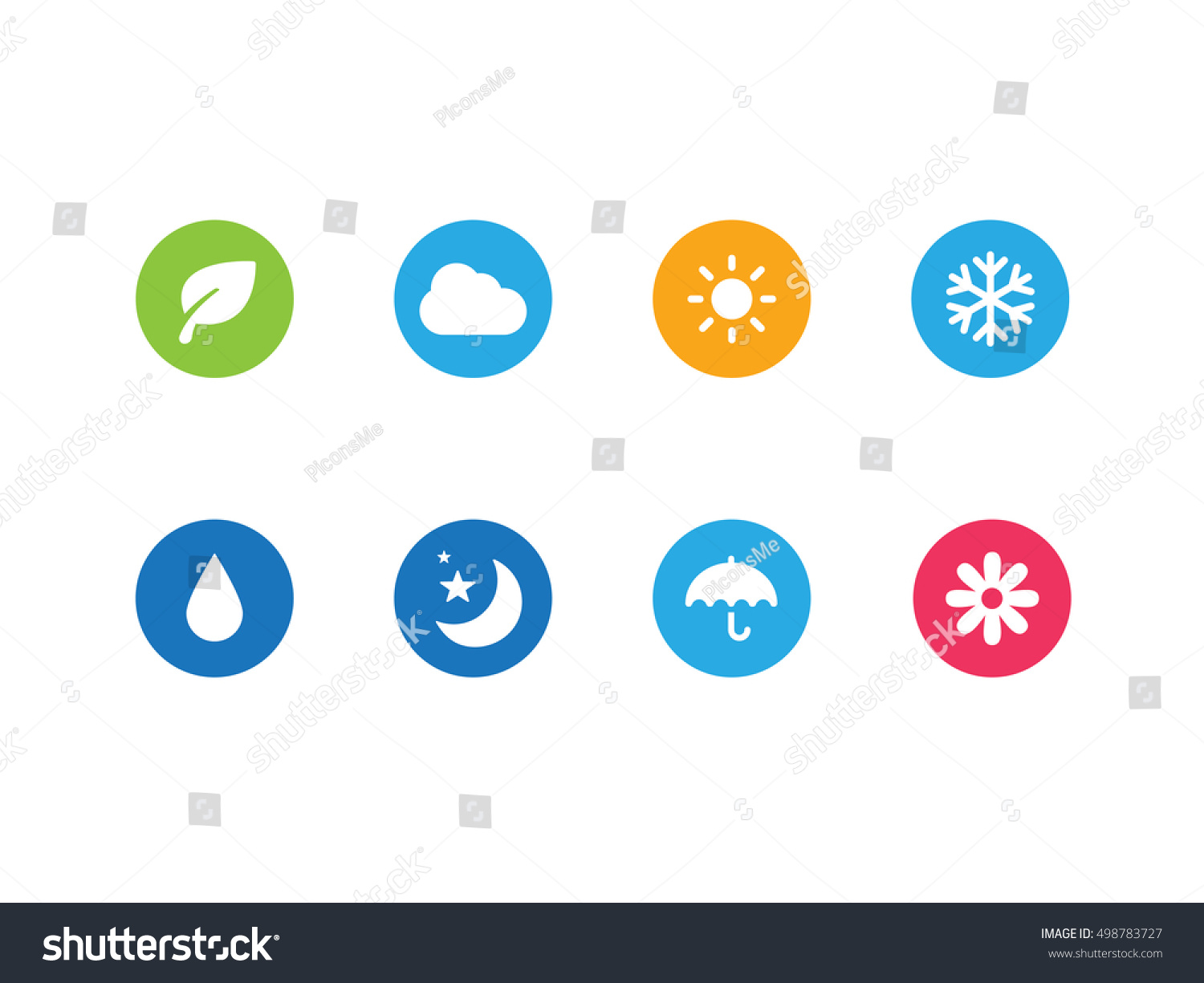 Weather Conditions Vector Icons Symbols Stock Vector Royalty Free