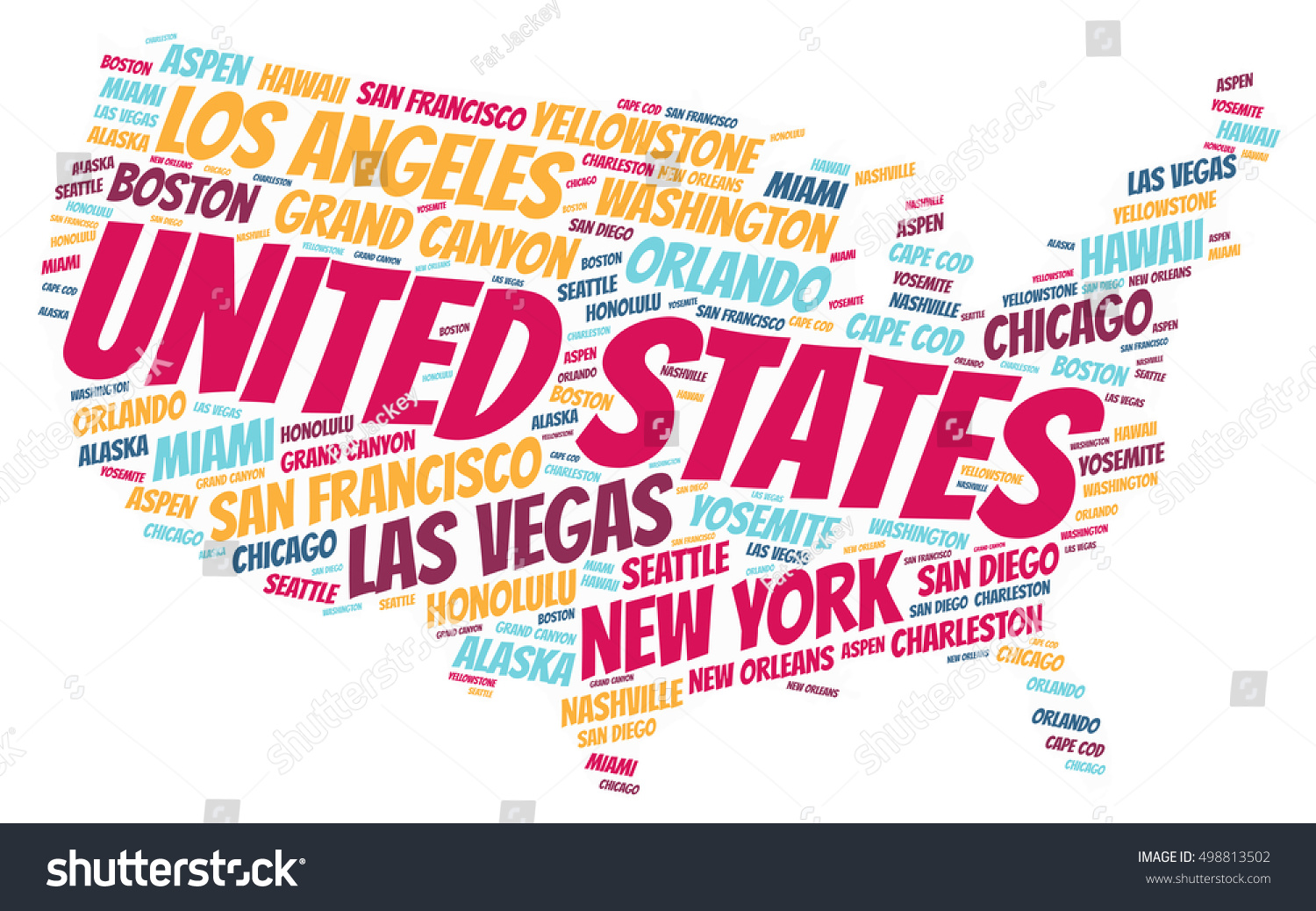 Map Most Popular Attraction In Every State Time Example Map For - Most popular us vacation spots