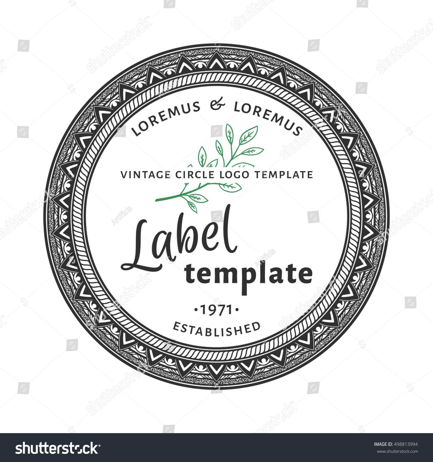 15 Inspirational Round Label Template | Best Template
