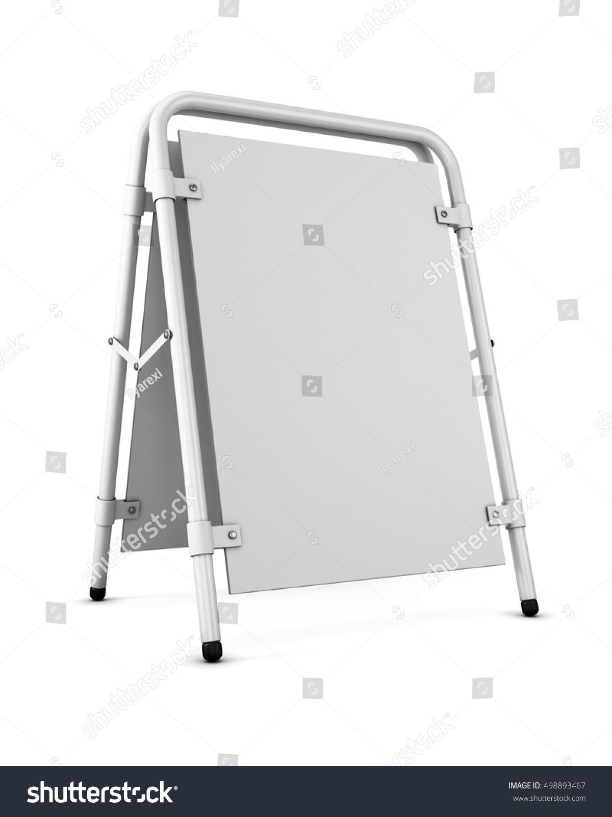 Blank Template Sandwich Board Blank Copy Stock Illustration ...