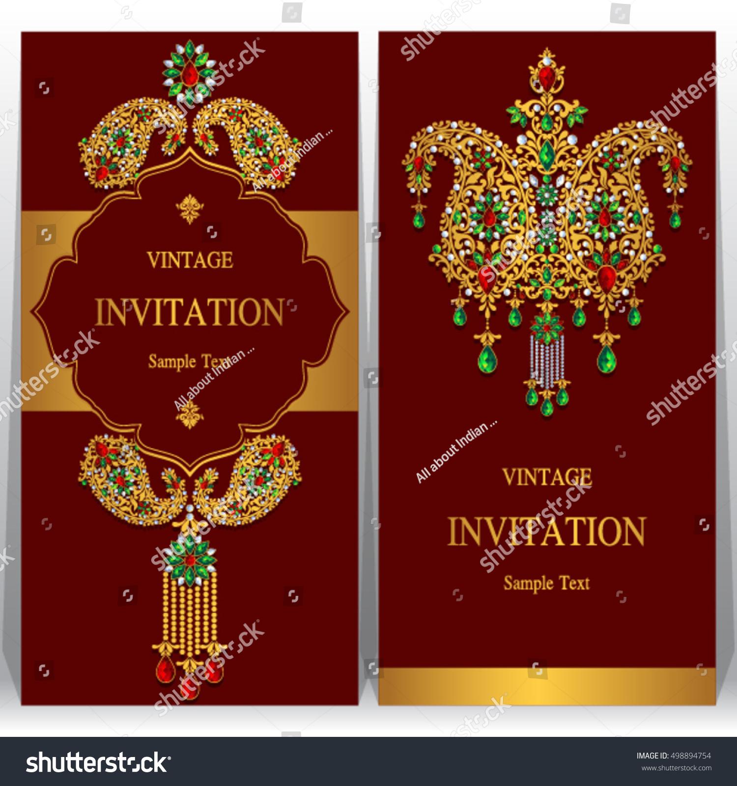 Exelent Indian Wedding Invitation Sample Motif - Invitation Card ...