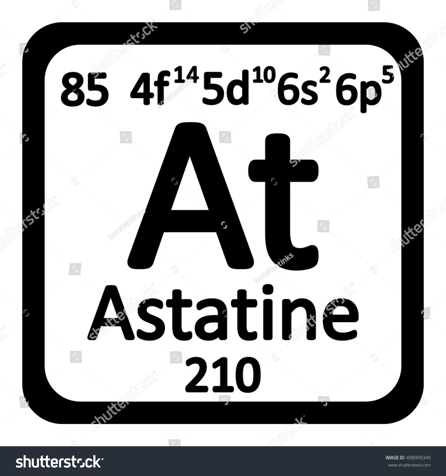 Periodic table element astatine icon on stock vector 498909349 periodic table element astatine icon on white background vector illustration gamestrikefo Images