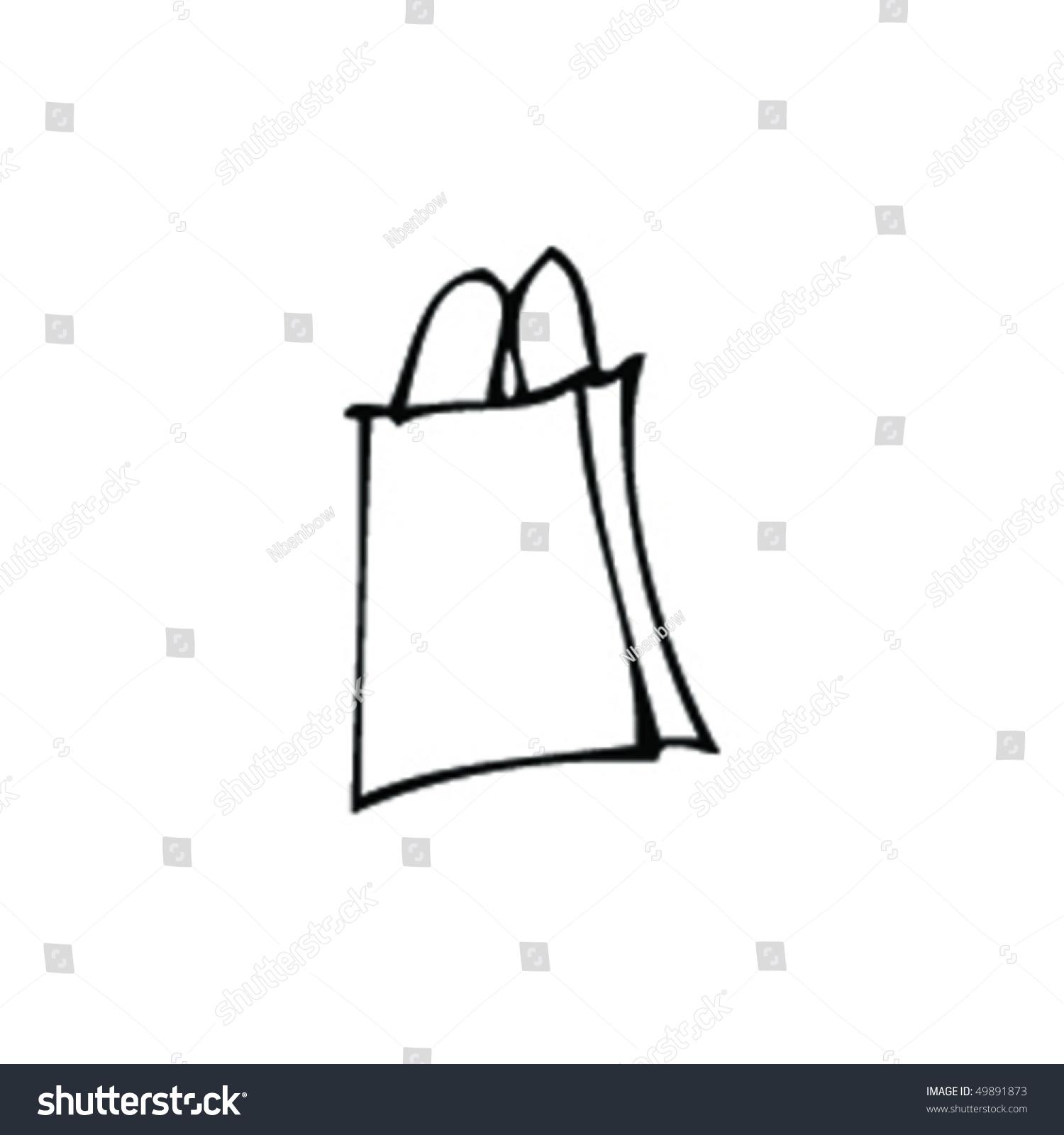 Paper bag sketch - Sketch Of A Shopping Bag