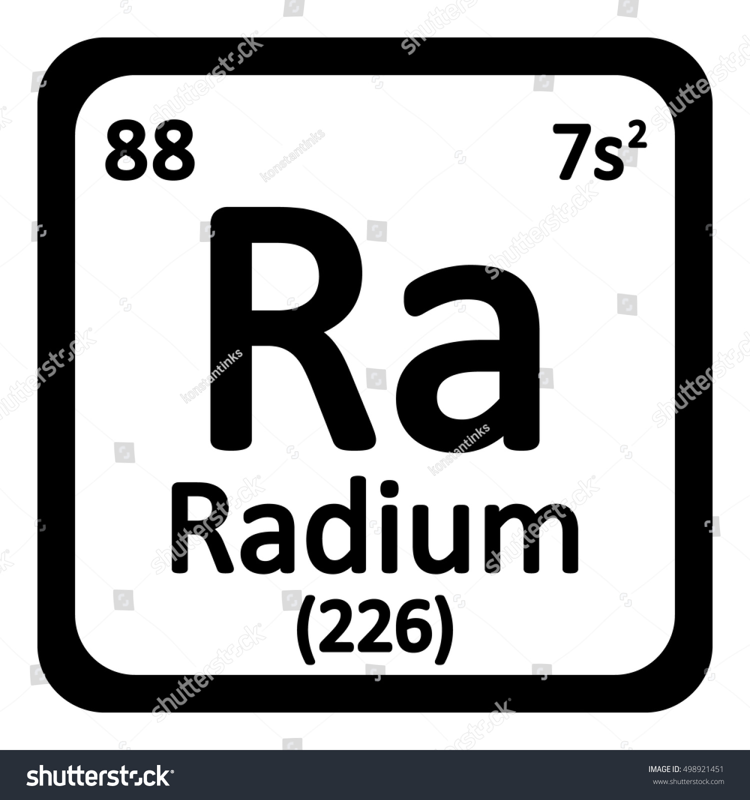 Periodic table element radium icon on stock vector 498921451 periodic table element radium icon on white background vector illustration gamestrikefo Images