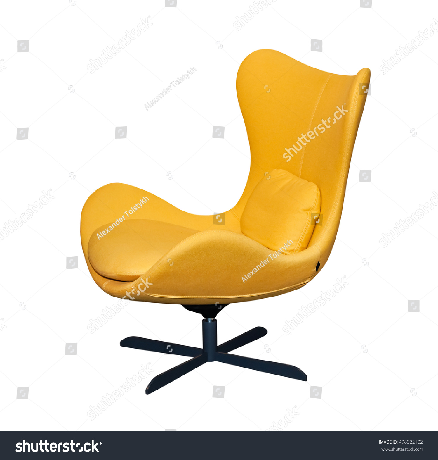 Spinning Yellow fice Chair Isolated Stock